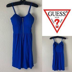 BOGO SALE Guess Blue Zip Up Mini Dress